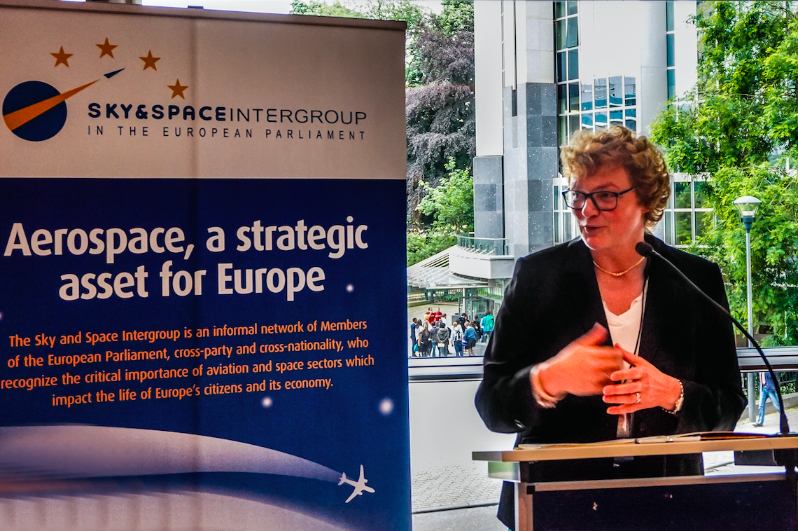 MEP and Sky & Space President M. Hohlmeier